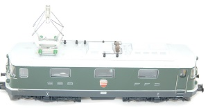 <b>HAG HO Nr. 161</b><br>DC analog<br>Re 4/4ll der SBB<br>Elektrolokomotive<br><br><br><br>Zustand: 1-2 mit Originalverpackung<br>Preis: 130,00 Euro<br><br><b><b><font color=#cc0000></font></b></b><br>